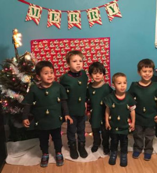 children having their christmas party