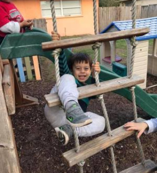 little boy at the playground