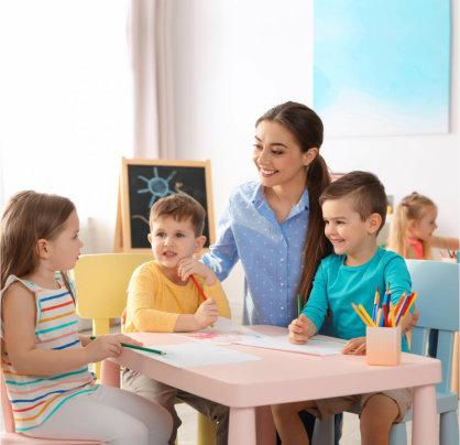 children listening to their teacher