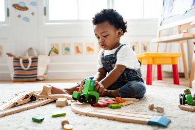 child playing toys